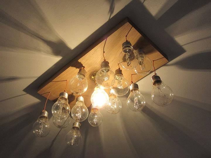 Au phyl du bois le plafonnier lumineux for Plafonnier bois